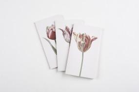 Notizhefte Blumen, Set mit 3 Exemplaren