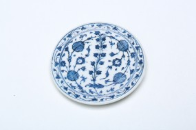 Plate magnet blue-white decor