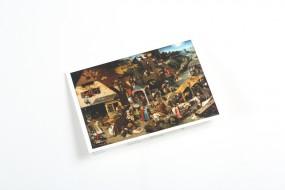 Klappkarte Bruegel d.Ä.: Niederländische Sprichwörter