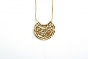 Replica: Pendant Crescent Moon large, foxtail chain