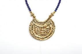 Replica: Pendant Crescent Moon, large, lapis lazuli
