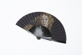 Fächer Botticelli: Venus, hellblau