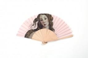 Fächer Botticelli: Venus, rosa