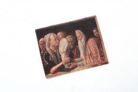 Brillentuch doppelseitig: Darbringung Christi im Tempel