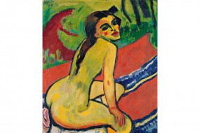 Art print Pechstein, Seated Girl
