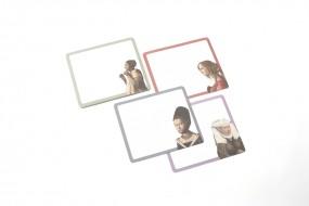 Mousepad Notizblock Vermeer, Junge Dame mit Perlenhalsband