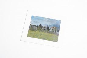 Bild mit Passepartout Monet, Häuser in Argenteuil