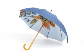 Walking-stick umbrella Merian: Tulips, roses