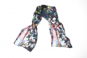 Silk scarf Macke, Walk in Flowers