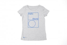 T-Shirt Hello World: Damen S, M, L, XL