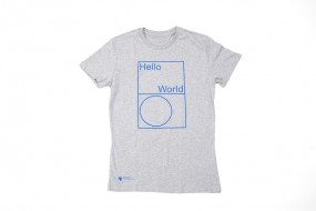 T-Shirt Hello World: Men S, M, L, XL